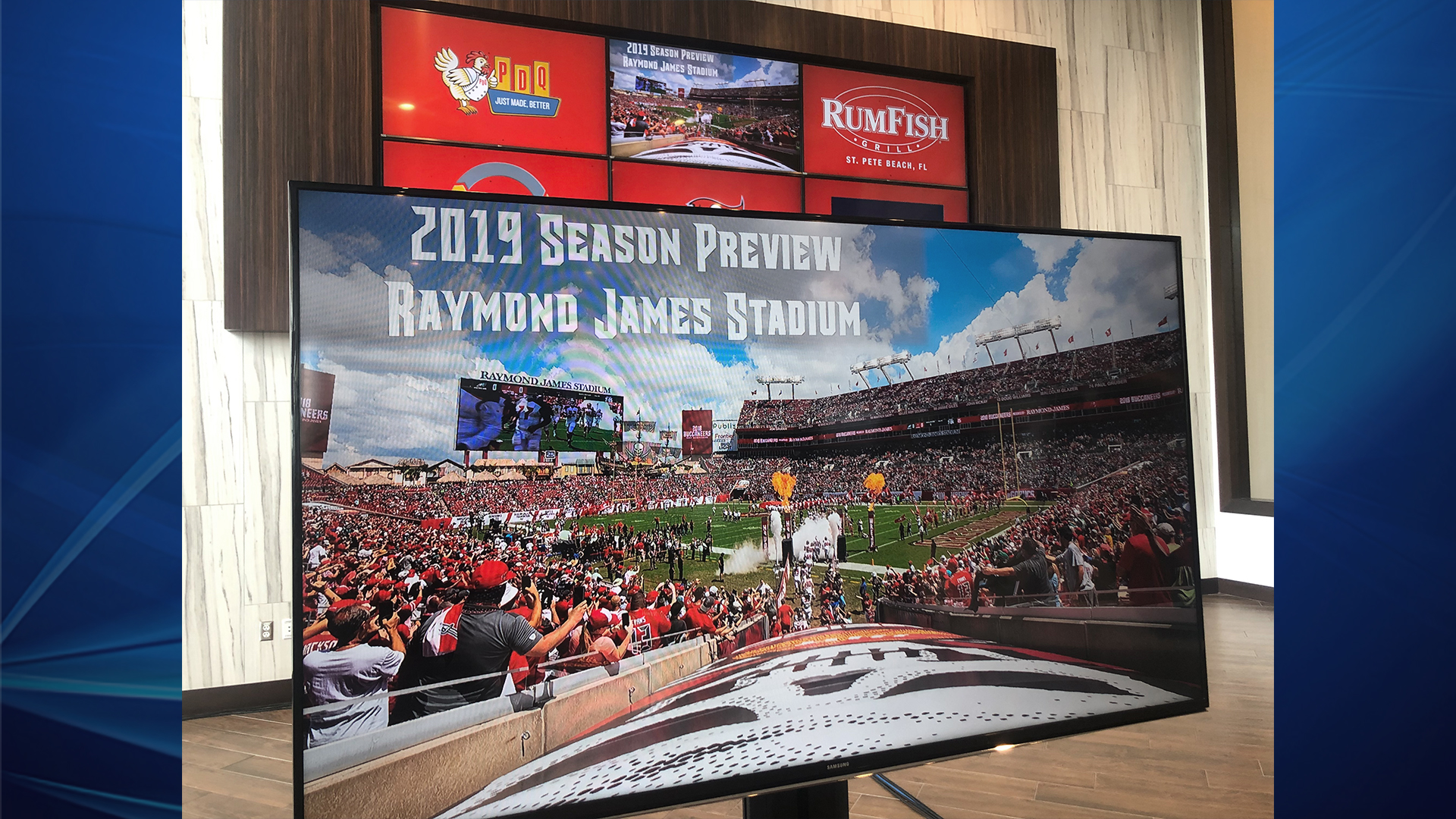 New game day menu available at Raymond James Stadium for