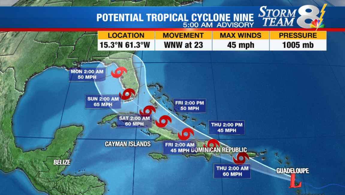 Tropical Storm Isaias Likely To Form In Atlantic Head