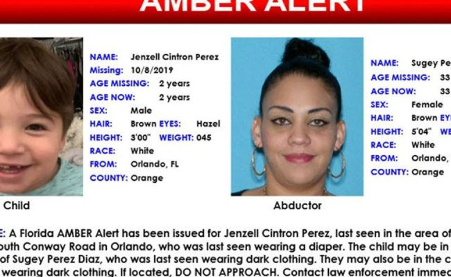 Amber Alert Issued For 2 Year Old Boy In Orlando Canceled