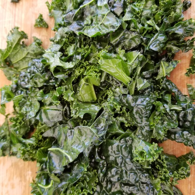 Rubbed or massaged kale