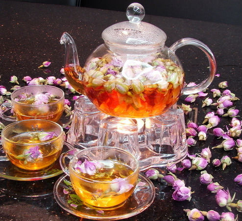 rose bud tea