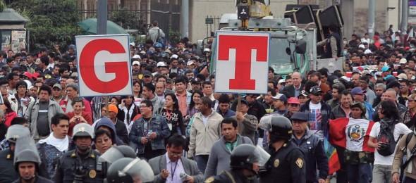 Apoio internacional às ações de protesto da CGTP
