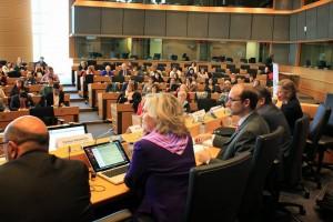 Sala del Parlamento Europeo a Bruxelles
