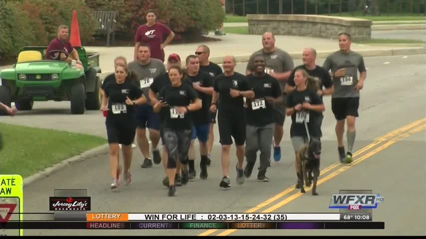 Annual run honors fallen Virginia Tech police officer_30081315-159532