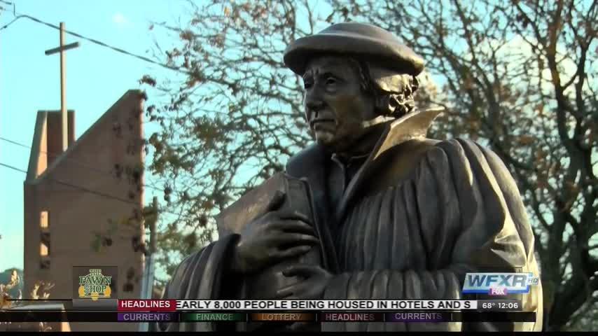 ML statue dedicated