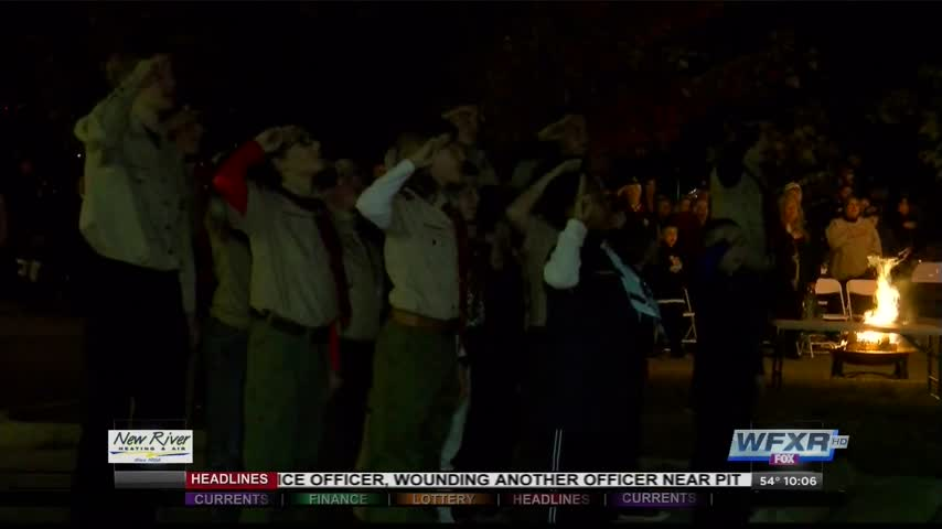 Boy scouts raise and retire flags at ceremony_38219986-159532