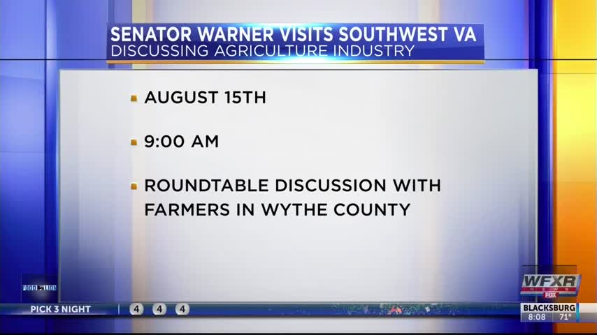 Senator Warner in Southwest VA to speak about agriculture_36434924