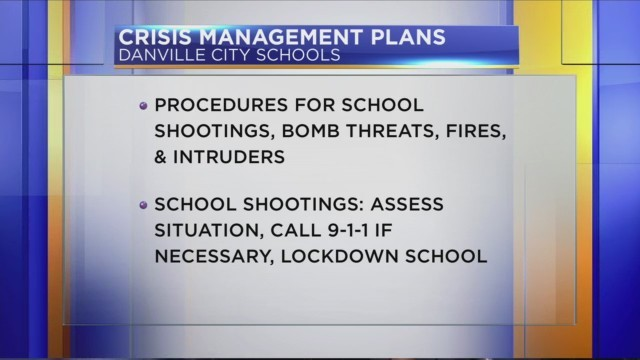 Danville Superintendent says student safety is the number one priority in school crisis events