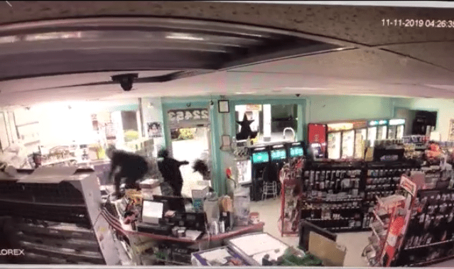Two people were caught on camera stealing from a Campbell County convenience store on Monday. (Photo: Courtesy Campbell County Sheriff's Office)