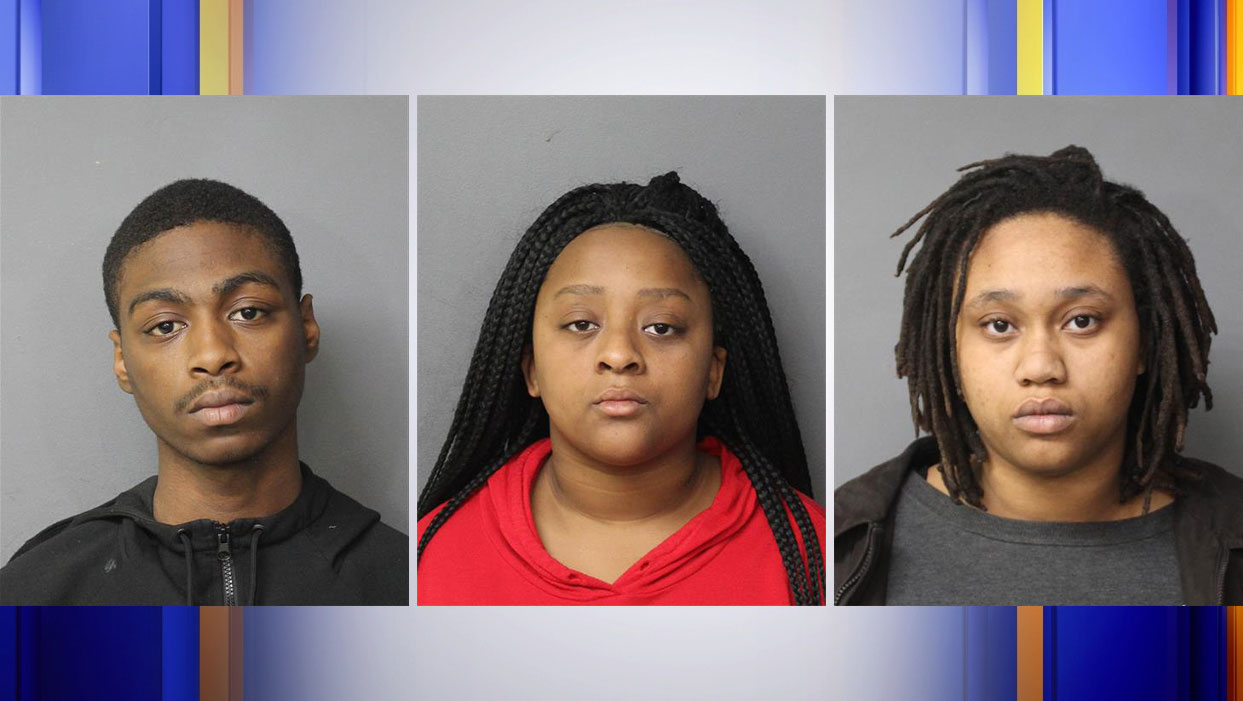 Rahzel C. Washington of Norfolk, Quataisia R. Thompson of Norfolk, and Sarah J. Bowen of Lynchburg were arrested in connection with a teenager's homicide on Friday, Feb. 21. (Photos: Courtesy Norfolk City Jail)