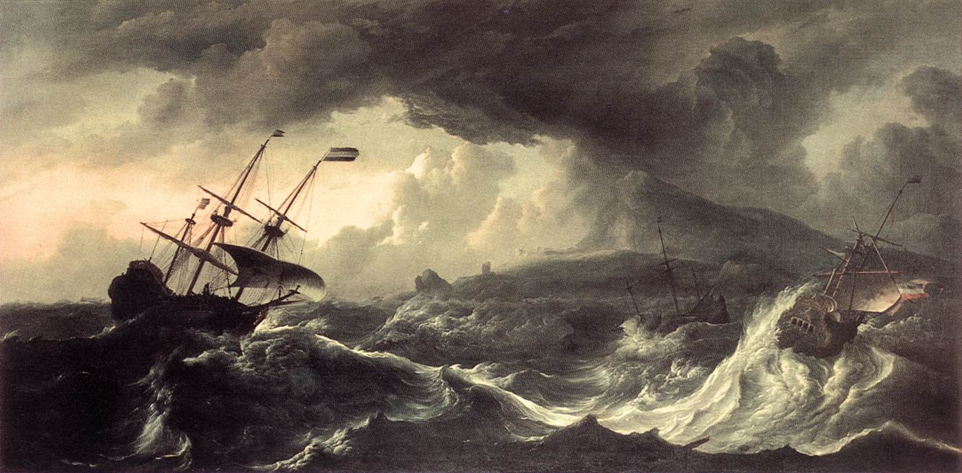 Ship in the tempest