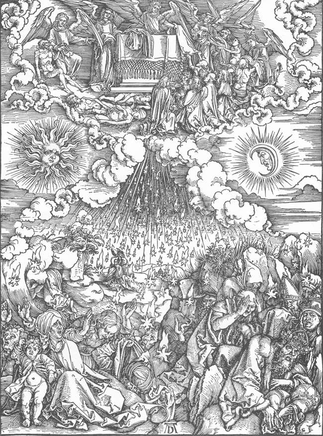The Revelation of St John: 5. Opening the Fifth and Sixth Seals  by Albrech Dürer // Larry Hunt Bible Commentary