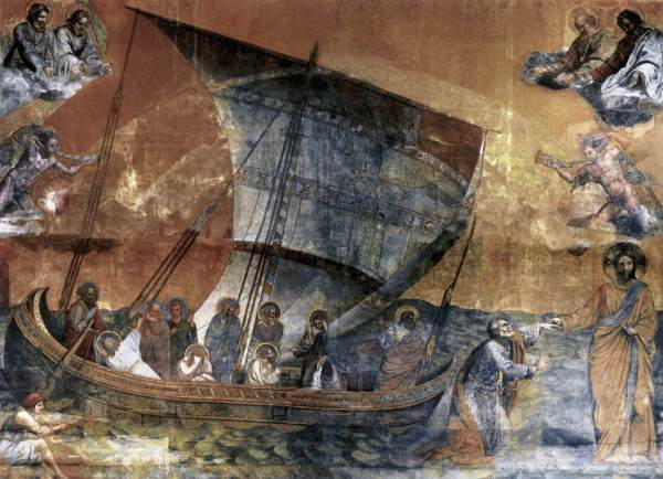 Jesus Walking On Water Giotto