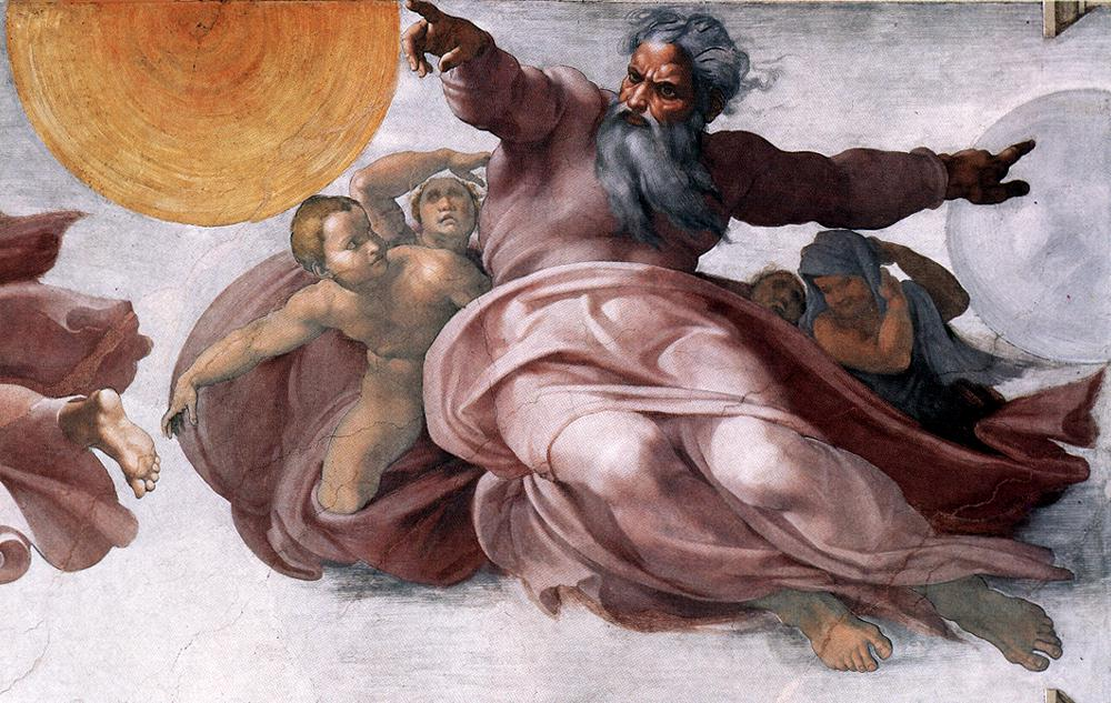 Image result for michelangelo creation of earth