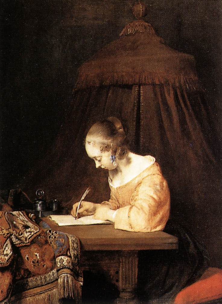 Terborch, Woman Writing Letter, 1655
