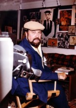 Jean Shepherd filming a series of short fillers for Masterpiece Theatre in my house in Concord - '83