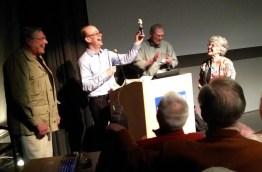 40. Jon Abbott receives his award: a bobblehead, continuing a long tradition ...