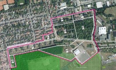 Aufteilung der Flächen