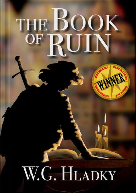 Award Winning Book Of Ruin Book Cover Mockup 2020