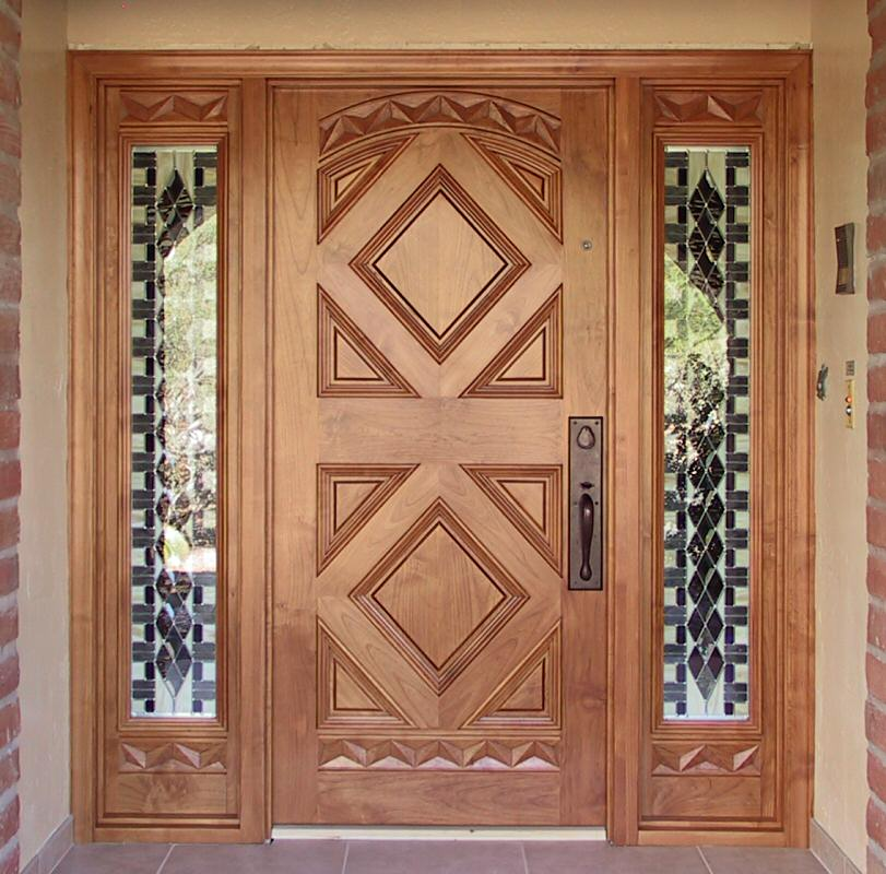 Entry with Geometric Design