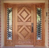 Entry with Geometric Design - WGH Woodworking