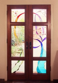 Stained Glass Old World Style Doors - WGH Woodworking