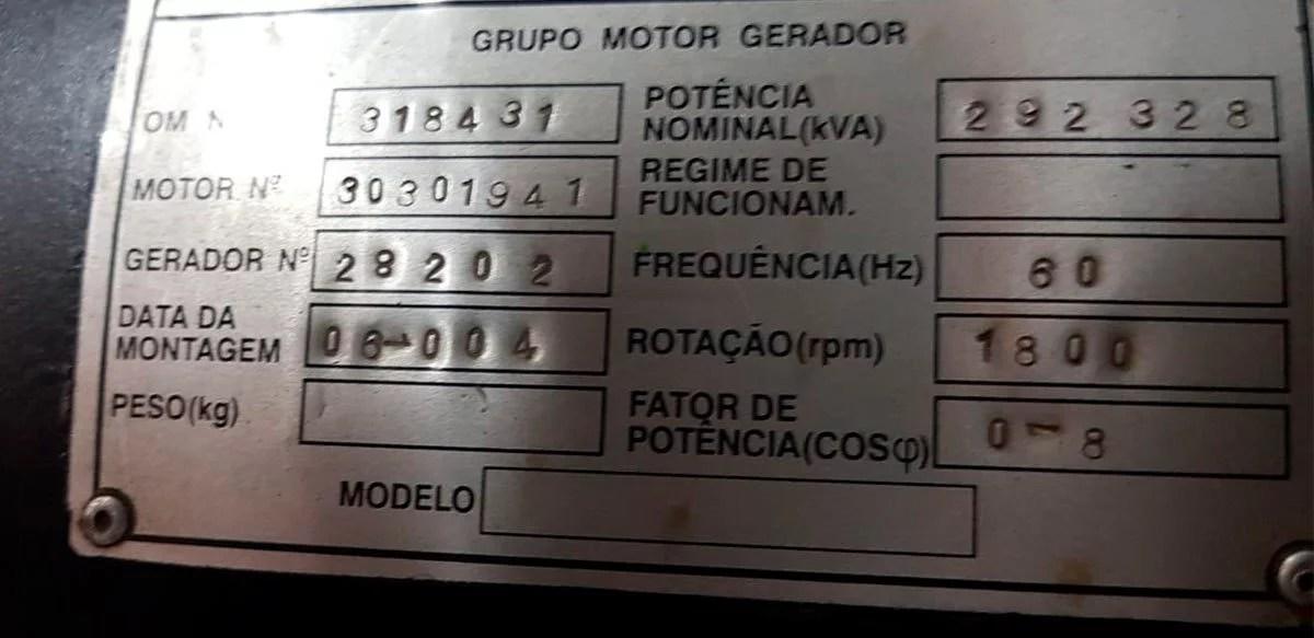 Gerador 320 KVA Usado Motor Cummins 05