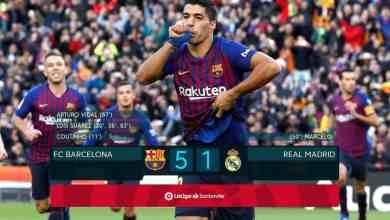 Suarez hits hat-trick as Barcelona blow away Madrid
