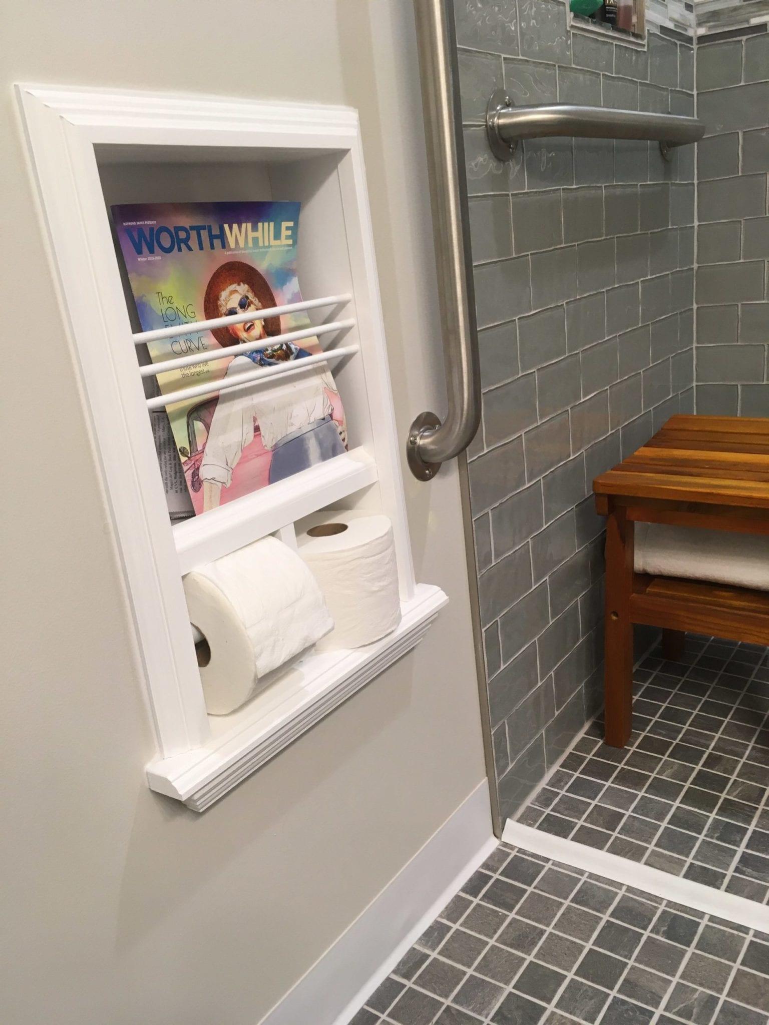 monterey 17 combination toilet paper holder recessed magazine rack