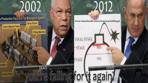 Colin Powell presents evidence
