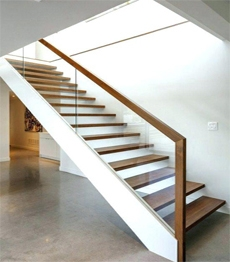 Interior Carbon Steel Structure Timber Solid Wood Treads Loft | Steel And Concrete Stairs | Welding | Smooth | Cantilevered | Industrial | Cement