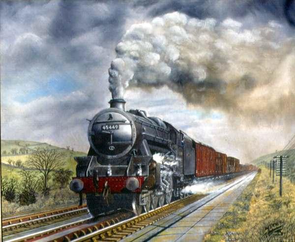 British Steam Train Paintings