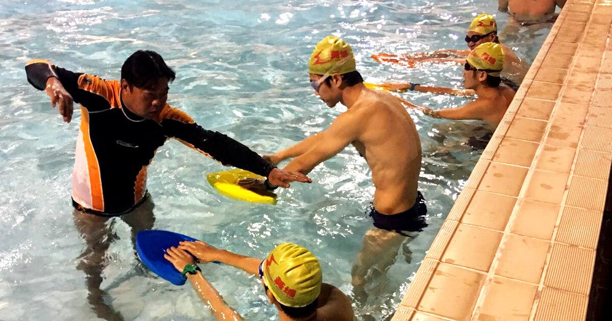 男子成人游泳班 male adult swimming lessons