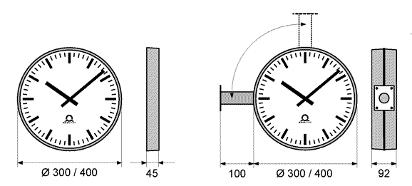 Trend intelligent analog clocks with Ethernet POE option