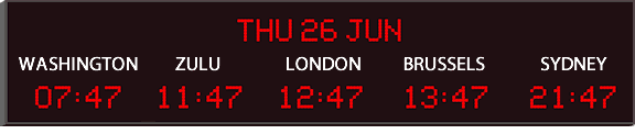 World Clock and Date | World Time Zone and Date Clock