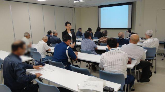 仙台で警備業の皆さんのビジネスマナーとクレーム応対研修の講師を務めました(宮城県仙台市)_fx_DSC00045