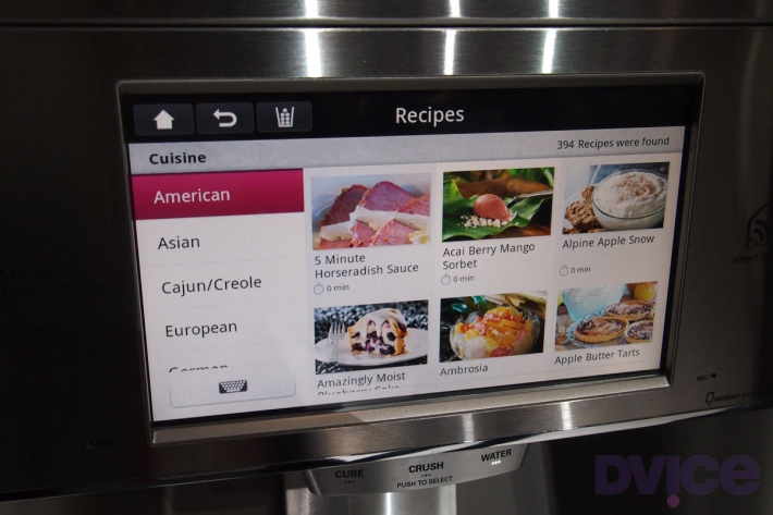 LG: Your Refrigerator Will Tell You What to Cook and Eat