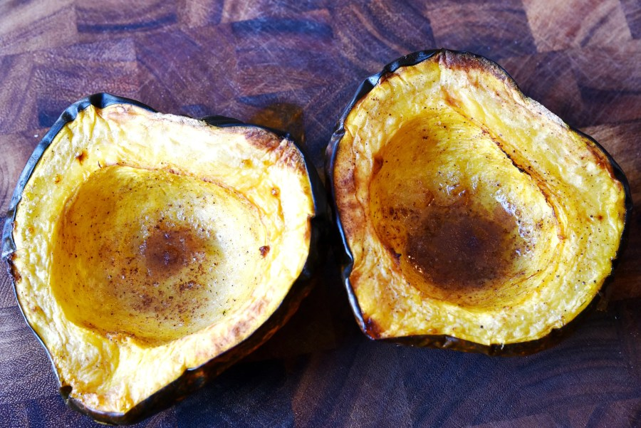 Acorn Squash with Cinnamon and Nutmeg