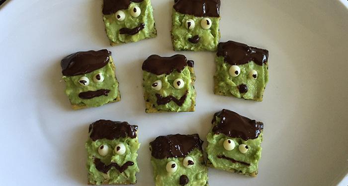 Cocoa Avocado Franken-Bites: A Fun Halloween Snack!