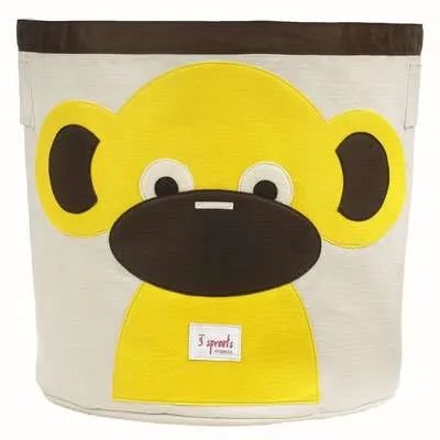 3 Sprouts Canvas Storage Bin for Kids - Monkey