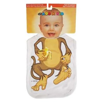Little Monkey Bib by Add A Kid