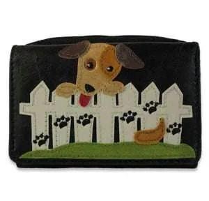 Lavishy Black Purse - Dog and Picket Fence