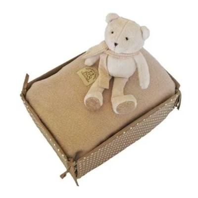 Fleece Baby Blanket and Bear Toy
