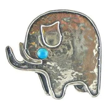 Sterling Silver Elephant Brooch
