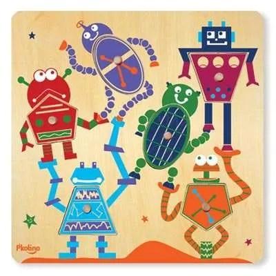 Six Piece P'kolino Robot Puzzle