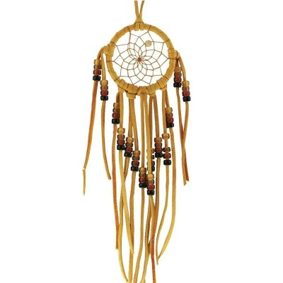 Beaded Dream Catcher with Earth-tone Glass Beads