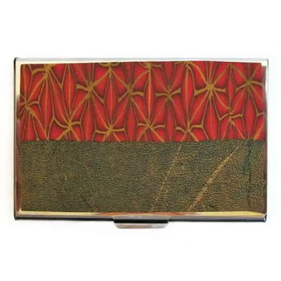 Business Card Case by Wanda Shum - Red