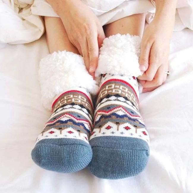 Pudus Nordic White Socks Model