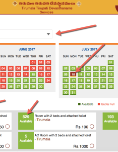 Ttd rooms availability chart also online room booking how to check rh whatareview