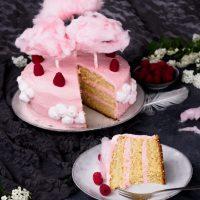 Kokos-Himbeer-Torte mit Baiser-Buttercreme